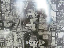 (3) Framed Aerial View Maps Photos of Las Vegas 19.25 Sq