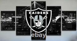 5 Pcs NFL Las Vegas Raiders Print Canvas Picture Wall Art Home Decor