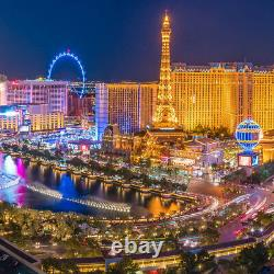 64Wx19H PANORAMIC VIEW LAS VEGAS NEVADA by VICTOR COBURGER CHOICES of CANVAS