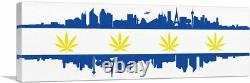 ARTCANVAS Las Vegas City Nevada Flag Weed Pot Marijuana Canvas Art Print