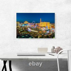 ARTCANVAS Las Vegas City Strip at Night Blue Sky Canvas Art Print