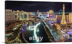 ARTCANVAS Las Vegas at Night Glowing Lights Canvas Art Print