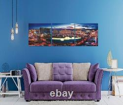 Acrylic Las Vegas Strip Triptych Panel Art Painting Frames Picture 60 X 20
