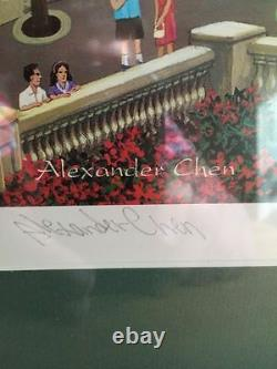 Alexander Chen Paris Las Vegas Hand Signed Limited Edition Lithog. FRAMED