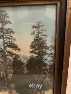 Antique Vintage Western Charleston Mountains Las Vegas Photograph WORDEN