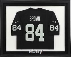 Antonio Brown Las Vegas Raiders Framed Autographed Black Nike Game Jersey