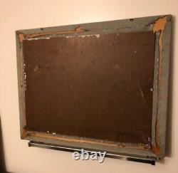 Artist Spike Ress Signed Original Las Vegas Oil On Masonite Board Painting