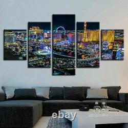 Awesome Las Vegas Poster Night City Wall Art Happy Home Decor 5 pcs Canvas Print