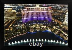 Belagio Hotel Casino on the Strip, Las Black Framed Wall Art Print, Las Vegas