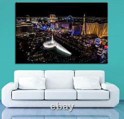 Bellagio Fountain Las Vegas 1 Panel Canvas Print Wall Art