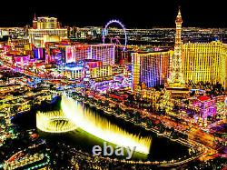 Canvas Picture Mural Las Vegas Cities USA Travel High Quality Art Print