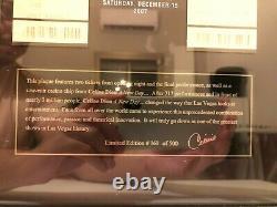 Celine Dion A New Day. Live in Las Vegas Memorial Frame (2007, Mega RARE)
