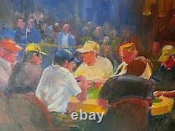 Cool WSOP Las Vegas Oil Painting Poker Tournament Room by Bob Rawdin