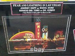 Custom Framed Die Cut Fear & Loathing in Las Vegas Movie Display Collage 27x36
