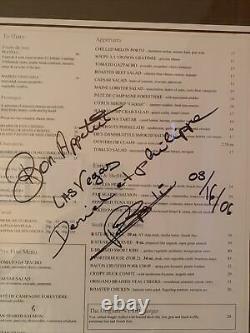 Daniel Boulud Brasserie Las Vegas Framed Signed Menu Spring 2006 Mint