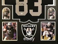 Darren Waller Autographed Custom Framed Las Vegas Raiders Jersey Beckett COA