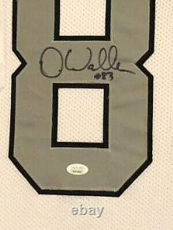 Darren Waller Autographed Custom Framed Las Vegas Raiders Jersey JSA Witness COA