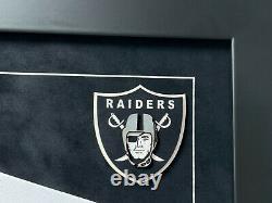 Darren Waller Autographed Las Vegas Raiders Custom Framed Jersey COA Signed JSA