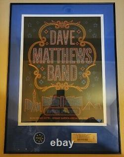 Dave Matthews Band poster Las Vegas-2007 Framed withpoker chip and ticket stub