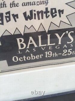 Dlr David Lee Roth Black & White Las Vegas Bally's Poster Paper Poster Frame