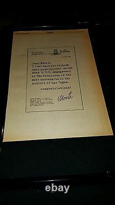 Eddie Fisher Rare Original 1958 Tropicana Las Vegas Promo Poster Ad Framed