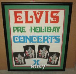 Elvis Presley Las Vegas Hilton Pre Holiday Concerts Poster Framed