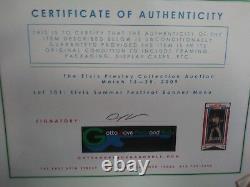 Elvis Presley Rare Mint 1972 Las Vegas Hilton Custom Framed Souvenir Menu