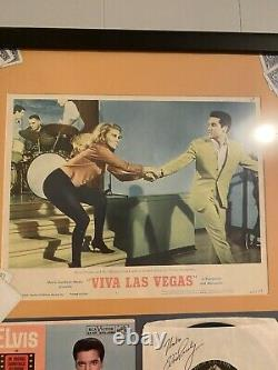 Elvis presley autograph signed viva Las Vegas sleeve framed display