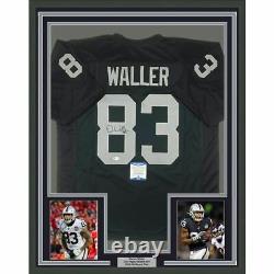 FRAMED Autographed/Signed DARREN WALLER 33x42 Las Vegas Black Jersey Beckett COA