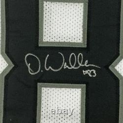 FRAMED Autographed/Signed DARREN WALLER 33x42 Las Vegas White Jersey Beckett COA