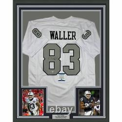 FRAMED Autographed/Signed DARREN WALLER Las Vegas Color Rush Jersey Beckett COA