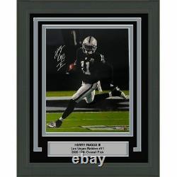 FRAMED Autographed/Signed HENRY RUGGS Las Vegas Raiders 16x20 Photo Fanatics COA