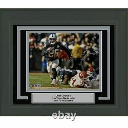 FRAMED Autographed/Signed JOSH JACOBS Las Vegas Raiders 8x10 Photo BAS COA #3