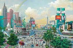 FRAMED Las Vegas Afternoon The Strip Signed Ltd Ed by Alexander Chen