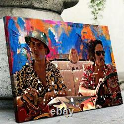 Fear And Loathing In Las Vegas Driving Art Painting Framed Canvas Print