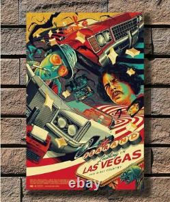 Fear And Loathing Las Vegas Retro Movie Art Painting Print On Framed Canvas