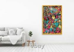 Fear and Loathing in Las Vegas Hunter S. Thompson Colourful Characters Wall Art
