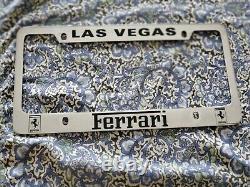 Ferrari Dealership License Plate Frame Las Vegas Tag Dealer Enzo