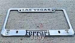 Ferrari License Plate Frame Las Vegas, Solid Brass Chrome Finish