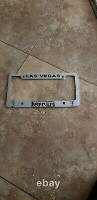 Ferrari license plate frame rare LAS VEGAS