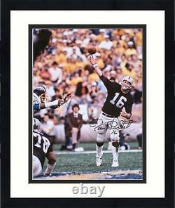 Framed Jim Plunkett Las Vegas Raiders Autographed 16 x 20 Throwing Photograph
