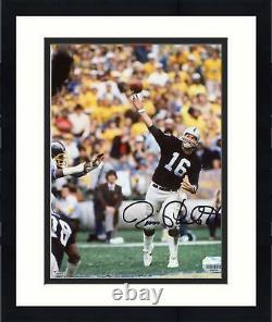 Framed Jim Plunkett Las Vegas Raiders Autographed 8'' x 10'' Throwing Photograph