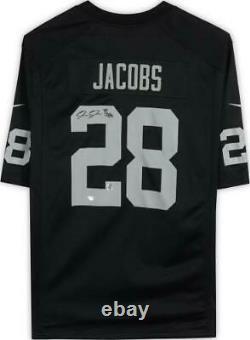 Framed Josh Jacobs Las Vegas Raiders Autographed Black Nike Game Jersey