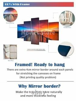 Framed Las Vegas Raiders Five Piece Canvas Multi Panel Home Decor Art 5