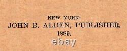 Framed Original 1889 Antique Map NEVADA Reno Elko Carson City Paradise Valley
