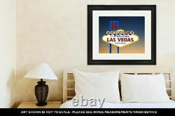 Framed Print, Welcome To Las Vegas Sign