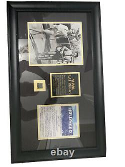 Framed VIVA Las Vegas Authentic Piece of Hollywood Sign