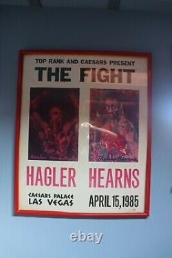 Hagler Vs. Hearns poster Las Vegas