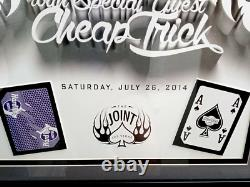 Hard Rock Las Vegas Boston & Cheap Trick 2014 Concert Poster Framed at The Joint