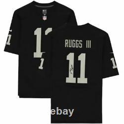 Henry Ruggs III Las Vegas Raiders Signed Nike Black Game Jersey